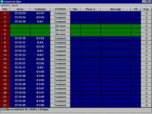 Control de Ciber 1346 (Cliente)