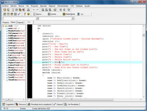 Dev-C++  5.0 Beta 9.2 (4.9.9.2)