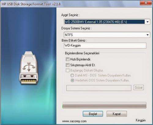 HP USB Disk Storage Format Tool 2.18