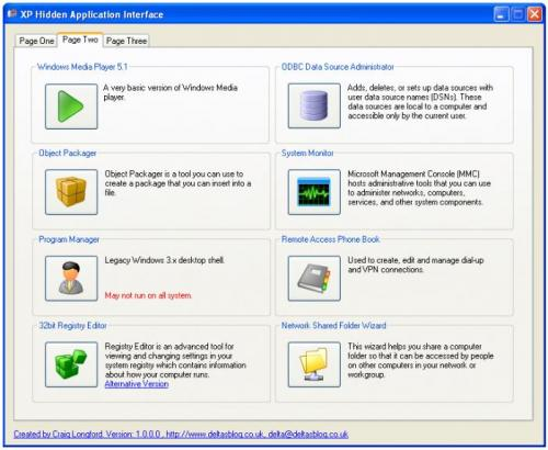 XP Hidden Application Interface 1.0 6654