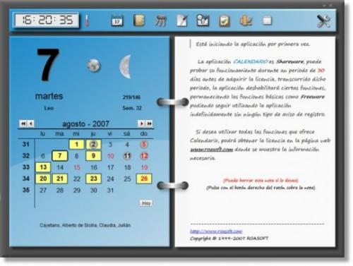 Roasoft Calendario 7.4.3.3429