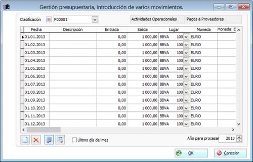 Presupuesto de tesoreria 1.0 - Descargar 1.0