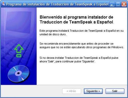 Traducci�n de TeamSpeak a Espa�ol 0