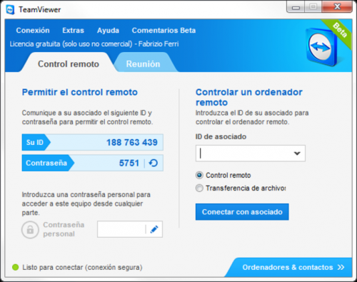TeamViewer 5.0.8703 - Descargar 5.0.8703