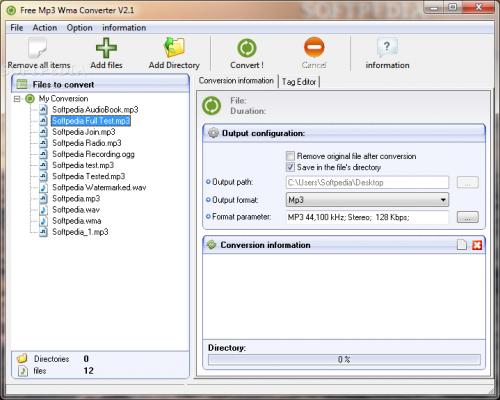 Free Mp3 Wma Converter 1.9  - Descargar 1.9
