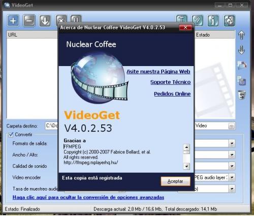VideoGet 3.0.2.48 - Descargar 3.0.2.48