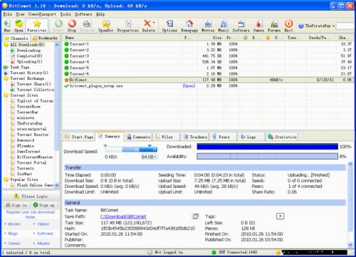 BitComet 1.22 - Descargar 1.22
