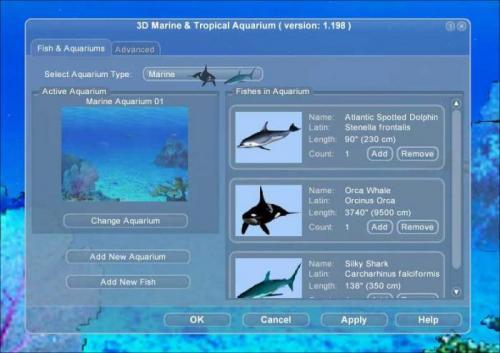 Crawler 3D Marine Aquarium 1.198